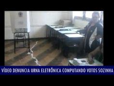 Vídeo denuncia urna eletrônica computando votos sozinha