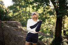Fall athleisure gear from Tory Burch Significant Other, How To Stay Motivated, Printed Leggings, Workout Gear, Athleisure, Warm Weather, Are You Happy, Tory Burch, Sportswear