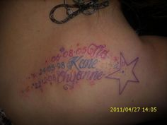 name tattoo. Would love this with my kids names.