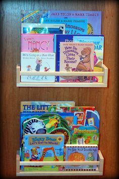 Ikea Book Shelves (Spice Racks) for book shelves next to bunk beds
