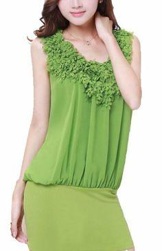 Petal Decoration Sleeveless Loose Waist Commuter Bag Hip Chiffon Dress Vangood,http://www.amazon.com/dp/B00ISU83YY/ref=cm_sw_r_pi_dp_nTDttb0RSWKWYTFV