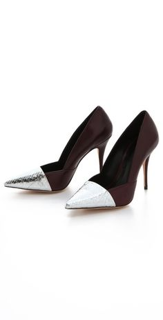 Elizabeth and James Sash Snake d'Orsay Pumps. Oh my!