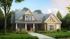 Floor Plan AFLFPW07307 is a beautiful 2619 square foot  Craftsman  home design with 2 Garage Bays