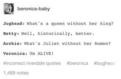 Inaccurate Riverdale quotes