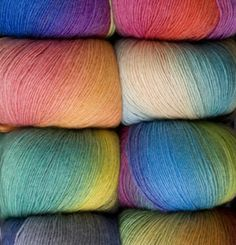 Chroma yarn from knit picks...amazing yarn that knits up beautiful, working on a fan and feather scarf right now in midwinter color.