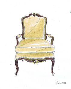 Yellow French Chair, Michelle Morelan