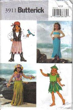 Butterick Pattern # 3911 Girls Costumes