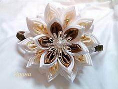 Hvastushki a otázky kanzashi 4 - Strana 205 - Fórum Diy Lace Ribbon Flowers, Tissue Paper Flowers, Cloth Flowers, Satin Flowers, Diy Ribbon, Ribbon Work, Fabric Ribbon, Ribbon Crafts, Flower Crafts