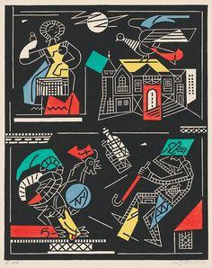 Ľudovít Fulla - Slovenské príslovia a porekadlá, 1961 Paper, Illustration, Artist, Cards, Painting, Artists, Painting Art, Paintings, Illustrations