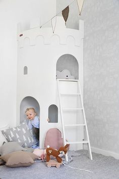 Mini princess castle playhouse // minimal baby and kid's rooms