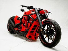 PORSCHE CUSTOM MOTORCYCLE - V-Rod #harley red custom