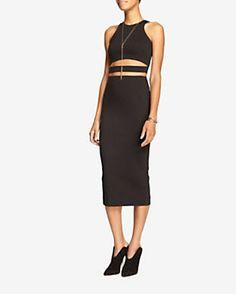 Nicholas Ponte Pencil Skirt: Black