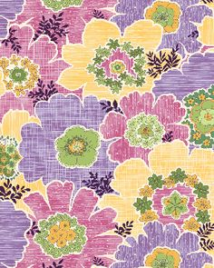 flowers lavender yellow and pink 144
