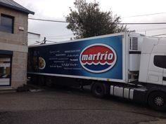Vinilo Vehículos Flota MarFrio, saliendo el ultimo