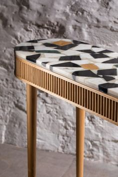 The mausam console and coffee table by kam ce kam features terrazzo trends superbe console moderne pas chre avec ikea Plywood Furniture, Table Furniture, Luxury Furniture, Vintage Furniture, Furniture Decor, Media Furniture, Concrete Furniture, Victorian Furniture, Furniture Removal