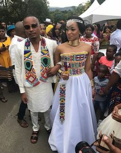 A-line Strapless Floor Length Satin Traditional Wedding Dress Xhosa Attire, African Attire, African Wear, African Women, African Dress, Traditional Wedding Attire, African Traditional Wedding, African Traditional Dresses, Traditional Outfits