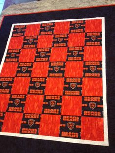 Chicago Bears Quilt Twin Quilt by UltimateQuilts on Etsy, $175.00 ... : chicago bears quilt - Adamdwight.com