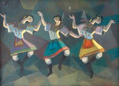 """The Russian Ballet"" (1967) - Seif Wanly ; Courtesy of Barjeel Art Foundation"
