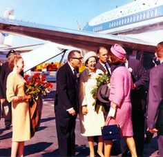 Laughing with Lady Bird at Love Field in Dallas, on November 22, 1963.   They were both amused at the formal greeting of each other, because they had just been together in Ft. Worth less than an hour before.