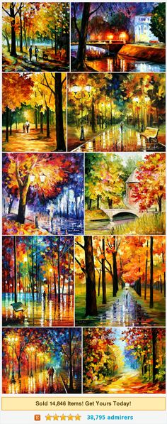 Landscape paintings by AfremovArtStudio #etsy shop @afremovart https://www.etsy.com/shop/AfremovArtStudio?ref=l2-shopheader-name&section_id=14433665