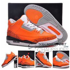 sports shoes f3468 20496 2014 cheap air jordan 3 mens Orange color basketball shoes good quality for  wholesale online  59
