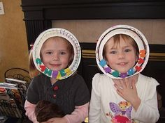 A fun art table time activity for the children to make astronaut helmets with an opening for their faces.