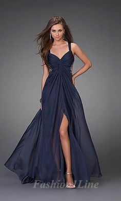 Navy blue dress with cut outs in the back. Gorgeous