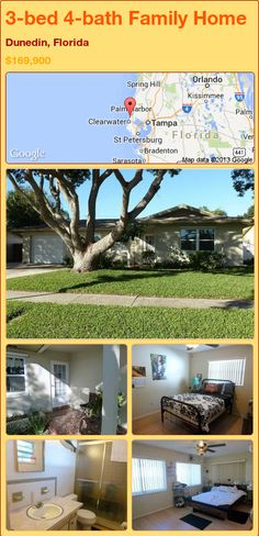 3-bed 4-bath Family Home in Dunedin, Florida ►$169,900 #PropertyForSale #RealEstate #Florida http://florida-magic.com/properties/87441-family-home-for-sale-in-dunedin-florida-with-3-bedroom-4-bathroom