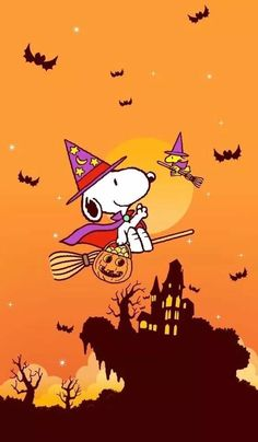 Happy Halloween~ Snoopy and Woodstock