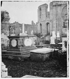 Graveyard of the Ruined Circular Church - Charleston, SC, 1865