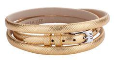 Joy de la Luz   Leather buckle bracelet gold €24,95
