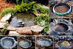 Créer un bassin artificiel avec de vieux pneus