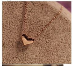 Fashion Gold Heart Love Pendants Necklaces,Women Birthday Gift,Love Necklace #Classic