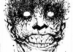 "Joker image from ""Batman: The Black Mirror"""