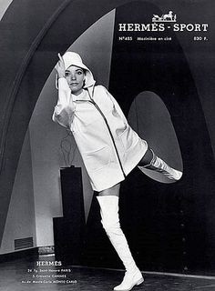 Hermès hooded rainslicker and thigh-high boots, 1969 | Flickr