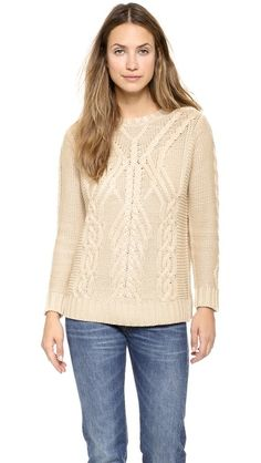 525 America Traveling Cable Knit Sweater ($207)