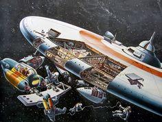 A Space Station, by Klaus Bürgle, 1949-1950