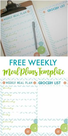 Free Weekly Meal Pla