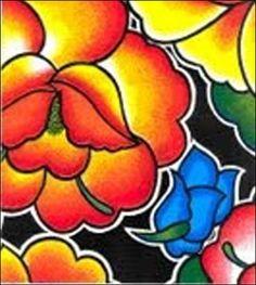 Sage's Garden Black Oilcloth Fabric