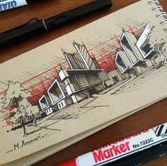 Interesting Find A Career In Architecture Ideas. Admirable Find A Career In Architecture Ideas. Architecture Concept Drawings, Modern Architecture Design, Architecture Sketchbook, Architecture Magazines, Interior Architecture, Sketches Arquitectura, Modelos 3d, Interior Sketch, Drawing Ideas