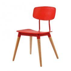 DS_CH433 플라스틱 사출+목재 의자