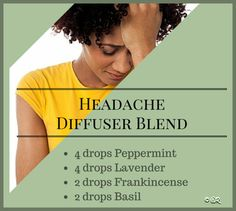 Headache diffuser blend for essential oils