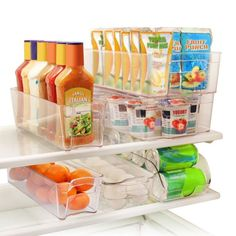 Buy Greenco 6 Piece Refrigerator and Freezer Stackable Storage Organizer Bins with Handles, Clear (Renewed) Storage Bins, Storage Containers, Food Storage, Storage Solutions, Storage Spaces, Storage Ideas, Plastic Storage, Food Containers, Organisation Hacks