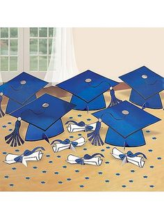 This Blue Graduation Decorating Kit makes your party easier! More at costumesupercenter.com.