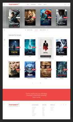 Poster shop homepage