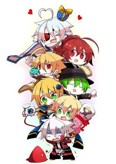 Blazblue Ragna the Bloodedge, Nu-13, and Lambda-11