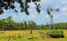 This is a windmill seen while biking the Van Fleet trail in Polk county Florida.