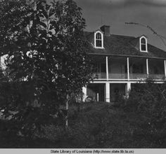 Melrose plantation home near Natchitoches Louisiana circa 1950s :: State Library of Louisiana Historic Photograph Collection