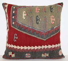 "Anatolian Sivas Sarkisla Handwoven Kilim Rug Decorative Pillow Cover 24"" | eBay"