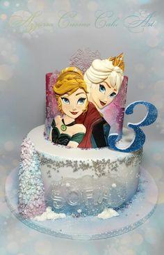 Frozen bas-relief cake  by Azzurra Cuomo Cake Art